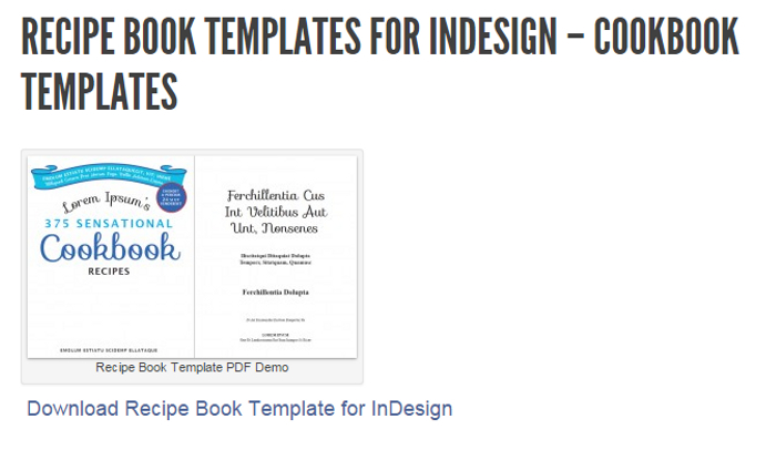 5 indesign cookbook template af templates for Template for recipes in word