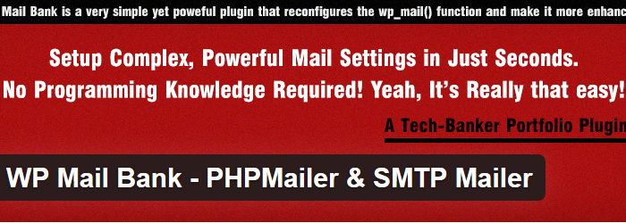 WP Mail Bank – PHP Mailer & SMTP Mailer