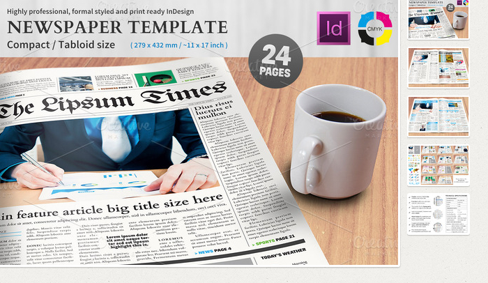 6 Free Indesign Newspaper Templates | AF Templates