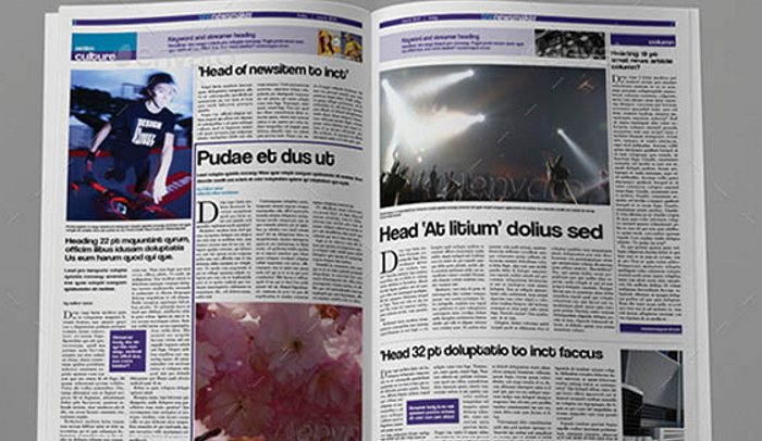 6 free indesign newspaper templates