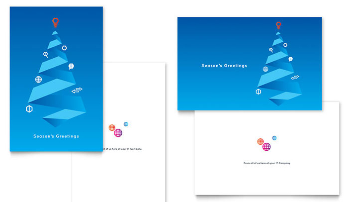 Indesign christmas card template cheaphphosting Image collections