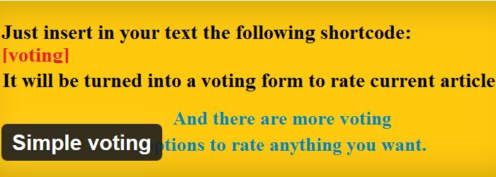 Simple Voting