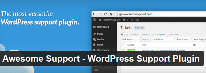 WP Awesome Support Responsive Ticket System