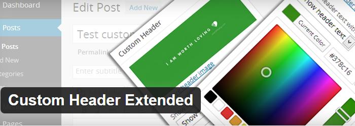 Custom Header Extended