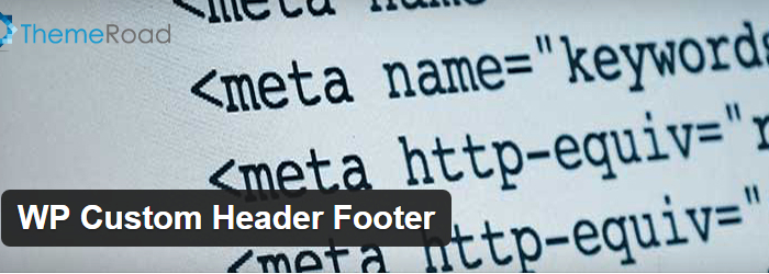 WP Custom Header Footer