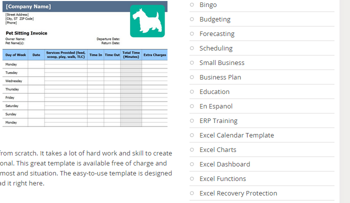 free pet sitting invoice template  7 Pet Sitting Invoice Template | AF Templates