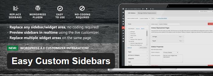 Easy Custom Sidebars