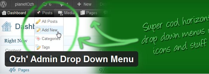 Ozh' Admin Drop Down Menu