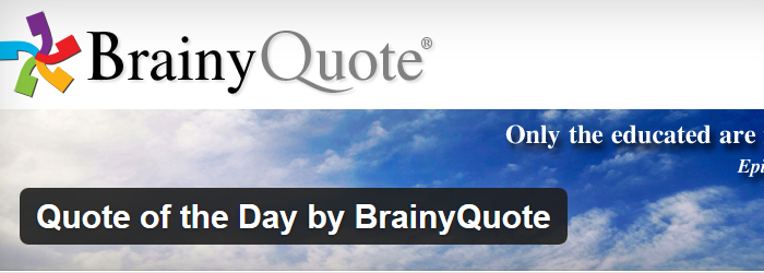 Quote of the Day by BrainyQuote