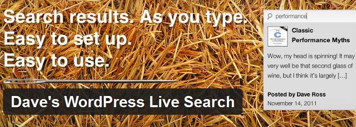Daves WordPress Live Search