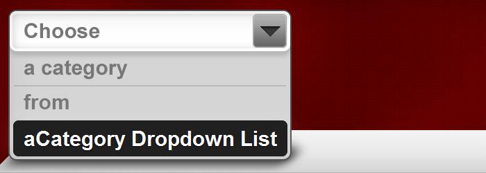 Display Category in a Dropdown Menu