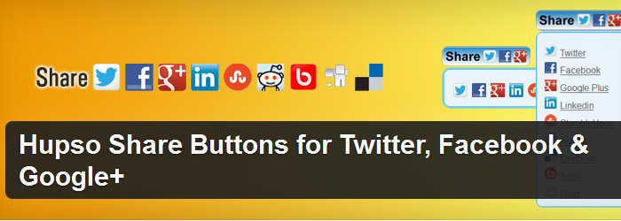 Hupso Share Buttons For Twitter, Facebook, and Google