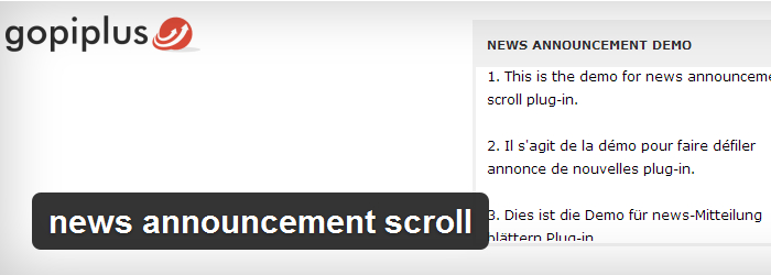 News Announcement Scroll