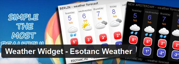 Weather Widget-Esotanc Weather